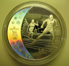 2009 Proof $25 2010 Vancouver Olympics #12-Cross Country Skiing Canada COIN ONLY