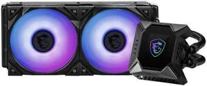 MSI MPG Series CORELIQUID K240 RGB CPU Liquid Cooler 240mm Radiator Dual Fans