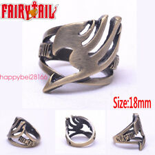 Anime Fairy Tail Ring Brozen Metal Hollow Retro Jewelry Cosplay Otaku Gift