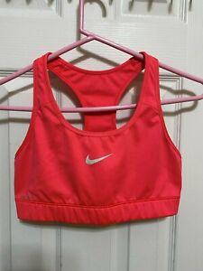Women's Medium Coral Pink Nike Sports Bra