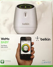 WeMo Baby the i phone monitor with Built-in WiFi, Visual and Audio Indicator