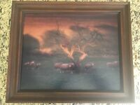 Sheep In The Meadow Oil Painting
