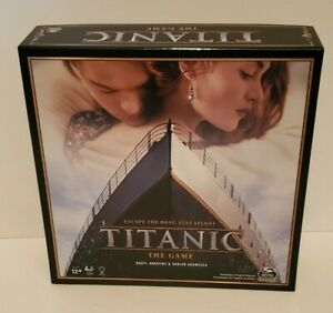 TITANIC MOVIE BOARD GAME ESCAPE THE BOAT STAY AFLOAT SPIN MASTER GAME COMPANY