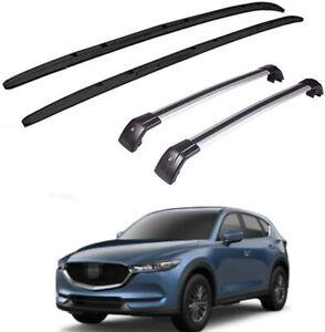 4Pcs Fit for Mazda CX-5 CX5 2017-2021 Roof Rail Racks Carrier Cross Bar Crossbar