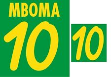 Mboma #10 Cameroon World Cup 2002 Home Football Nameset for shirt