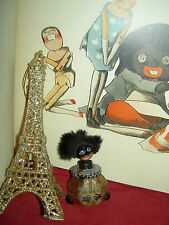 Rare antique labeled Paris France VIGNY 1921 black Americana doll perfume bottle