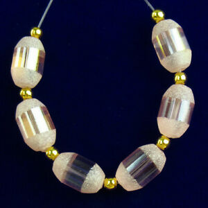 6Pcs/set Pink Crystal Agate Druzy Quartz Geode Drum Pendant Bead D69352