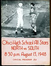 1948 Ohio State High School All Star Football Game Program Vic Janowicz Ex 43702