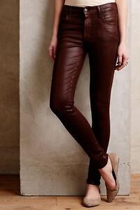 NWT ANTHROPOLOGIE CITIZENS OF HUMANITY Coated Rocket High Rise Jeans 26/27 $228