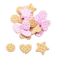 20Pcs Decoden Flatback Cabochons Resin Kawaii Cookies, 13 - 21mm Mixed Craft