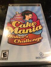 Cake Mania: Baker's Challenge (Sony PSP, 2008) Brand new Factory Sealed