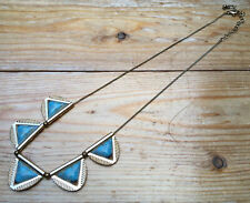 Lovely Dainty Turquoise Panel Necklace/Geometric/Accessorize/Striking