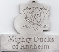 Mighty Ducks Anaheim Licensed Metal Tag So Cal Hockey 04-05 Season Seat Holder