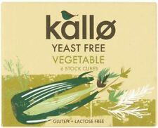 Kallo Organic BIO Levure gratuit de légumes de 6 cubes - 66 g