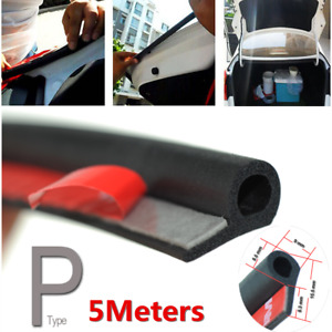 Universal Small P Type 5M Rubber Car SUV Door Seal Strip Soundproof Weatherstrip
