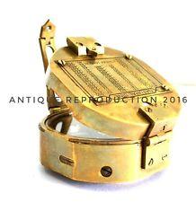 "3"" Vintage Round Shape Antiquated Geologist Brunton Compass Brass Mirror replica"