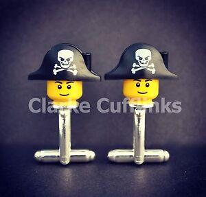 LEGO ® Mini Figure PIRATE Cufflinks, Wedding Groom Mens Novelty Gift Present