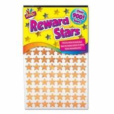 900 + School Teacher Reward Stickers Stars Gold Silver Bronze Book Home Office