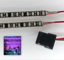 Morado LED Modding PC Funda Luz (Doble 50CM Tiras) Molex 80CM Colas Doble