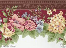 LASER CUT  FLORAL  Wallpaper BORDER Traditional Decor