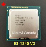 Intel Xeon E3-1240 V2 SR0P5 3.4GHz Quad 4 Core LGA1155 69W CPU Processor