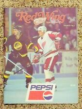 1993-94 Adirondack Red Wings (AHL) Mike Maurice Volume 15 No 1 Game program
