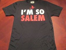 NEW I'M SO SALEM BLACK TECH FIT T-SHIRT SIZE M MA. HALLOWEEN WITCH CITY