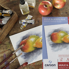 BEST Canson Oil Acrylic Paper A3 Pad Fine Grain Painting Drawing White Paper
