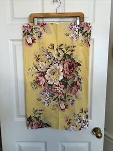 Ralph Lauren KATHLEEN Sophie Brooke Yellow Rose Floral ONE Standard Pillowcase