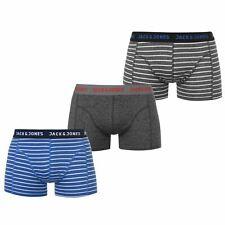 Mens Jack and Jones 3Pk Thomas Trunks Underwear New