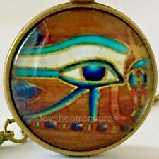 New Egyptian Eye of Horus Necklace Eye of Ra Pendant - Antique Brass j