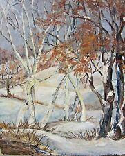 "~1950's~Winter Landscape~Aspen Trees~Snow~16"" x 20""~Unframed~Not Signed"