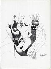 VICTOR LINFORD: Neujahrsgraphik P. F. 1970, Blüten, weiblicher Akt