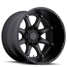 17 inch 17x9 Black Rhino Glamis Matte Black wheel rim 8x6.5 8x165.1 -12