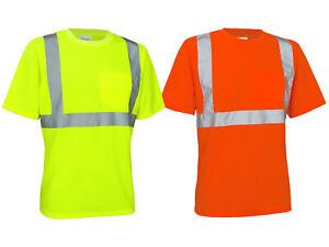 Warn T-Shirt Warnschutz Shirt Hi-Viz Kurzarm gelb orange Safetystyle (TS-URG)