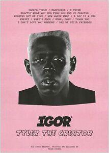 Tyler the Creator IGOR Poster A5..A4..A3..A2.A1.A0..OPTIONS