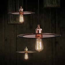 Industrial Metal Flat Shade Single-Light Hanging Pendant Lamp Kitchen Light