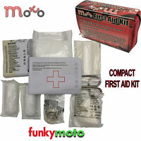 COMPACT FIRST AID KIT EMERGENCY UNDER SEAT MOTORCYCLE BIKE JOURNEY TRAVEL HOME