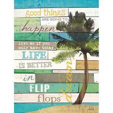 """Coastal Word Art Print- """"Good Things"""" - Seascape Ocean Beach Home Decor Picture"""