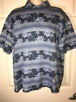 Dockers Mens Large Short Sleeve Blue Polo Shirt