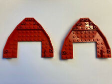 Lego Lot of 2 Used Red Boat Ship Bow 10X12X1 Pirate Hull # 47404 Brick Plate