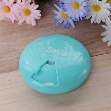Portable Pocket Round Medicine Pill Vitamin Box Case Storage Dispenser Organizer