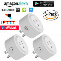 3 Pack Smart Plug WiFi Socket Outlet Switch APP Remote Control Alexa/Google Home