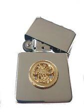 LRDG Long Range Desert Group Chrome Plated Windproof Petrol Lighter in Gift Box