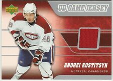 2006-07 Upper Deck Andrei Kostitsyn #J-KS Hockey Card UD Game Jersey