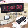 Digital Large Screen Jumbo LED Wall Desk Alarm Clock Calendar Temperature