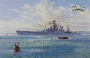 SIMON ATACK Farewell the Hood KM Bismarck HMS HOOD TED BRIGGS w/Bonus Print WOW!