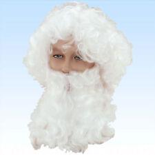 Weiße Nikolausperücke mit Vollbart  für Kostüm Nikolaus Ruprecht Weihnachtsmann