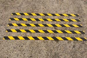 NON SLIP GRP HAZARD STRIPS FOR SLIPPERY DECKING WITH FREE SCREWS