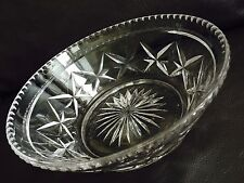 "Marvellous Heavy Antique Fully Hallmarked ""Stuart"" Crystal 9 Inch/23cm Wide Bowl"